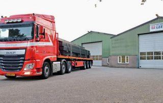 vervoer bouw- en bestratingsmaterialen Transportbegeleiding